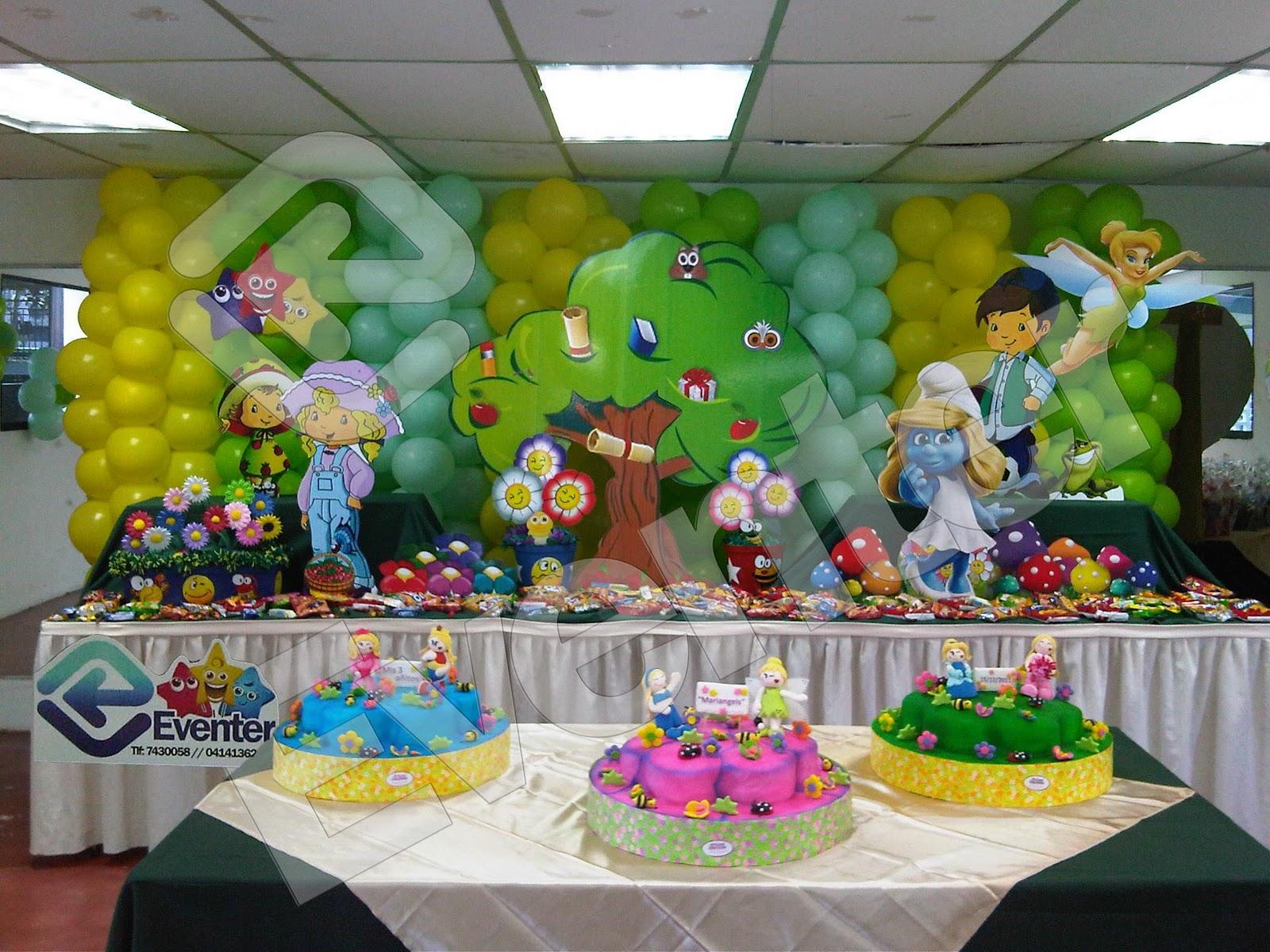 Pin centro mesas infantiles todo para sus fiestas bsf - Decoracion del jardin ...