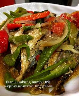 Resep Ikan Kembung Goreng Bumbu Iris Pedas