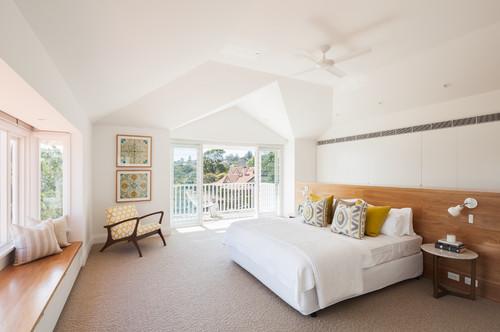 غرفة نوم رئيسية طراز اسكندنافي في سيدني، استراليا