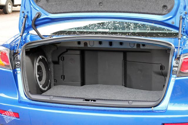 2015 Mitsubishi Lancer Evolution MR - trunk