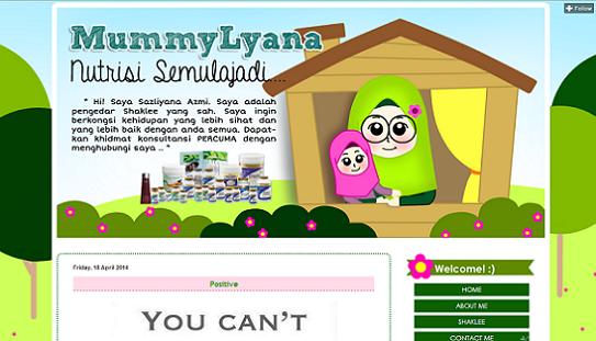 Tempahan : Full Edit & Design MummyLyana Nutrisi Semulajadi