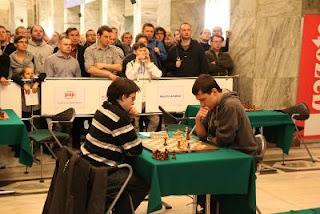 Maxime Vachier-Lagrave champion d'Europe de Blitz face à MI Andrey Gorovets du Belarus © site officiel