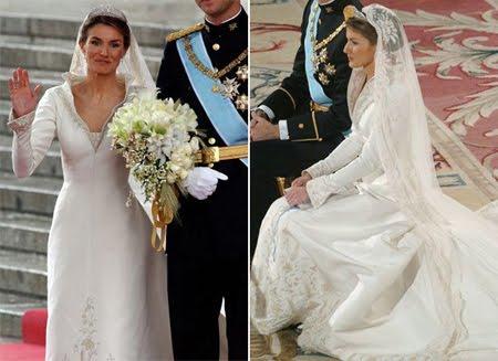 Принцеса Летисия в булчинска рокля