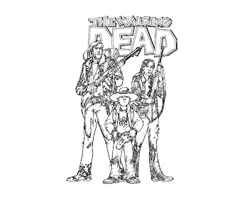 #8 The Walking Dead Coloring Page