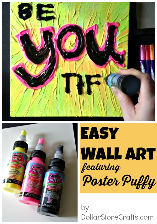 Easy wall art project - Poster Puffy makes it easy!