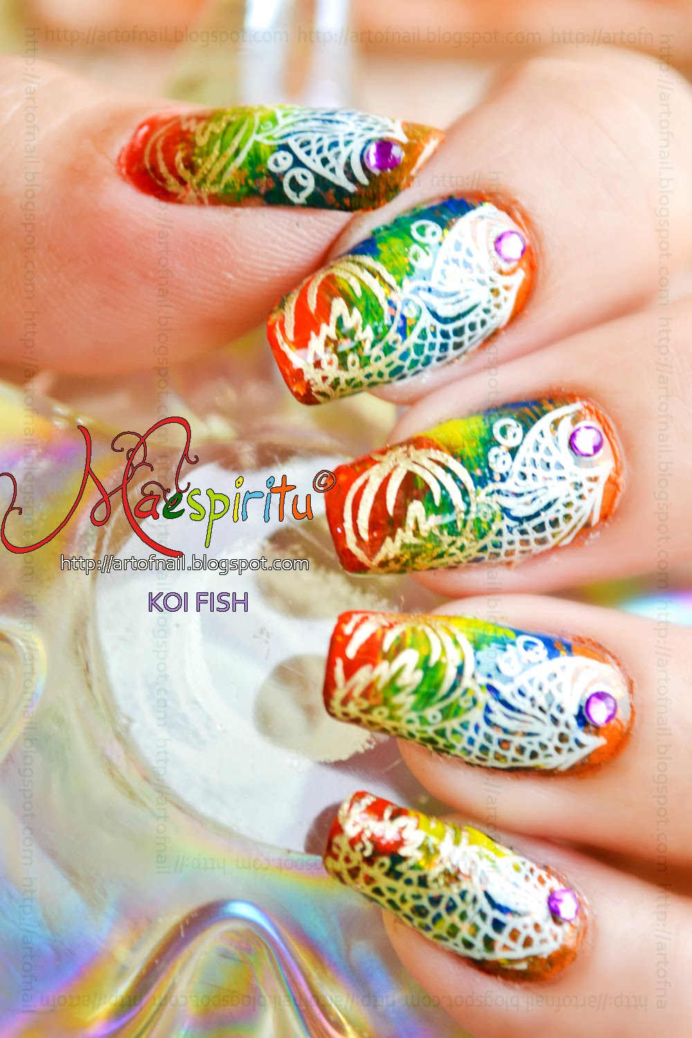 Funky Koi Fish Nail Art Picture Collection - Nail Art Design Ideas ...