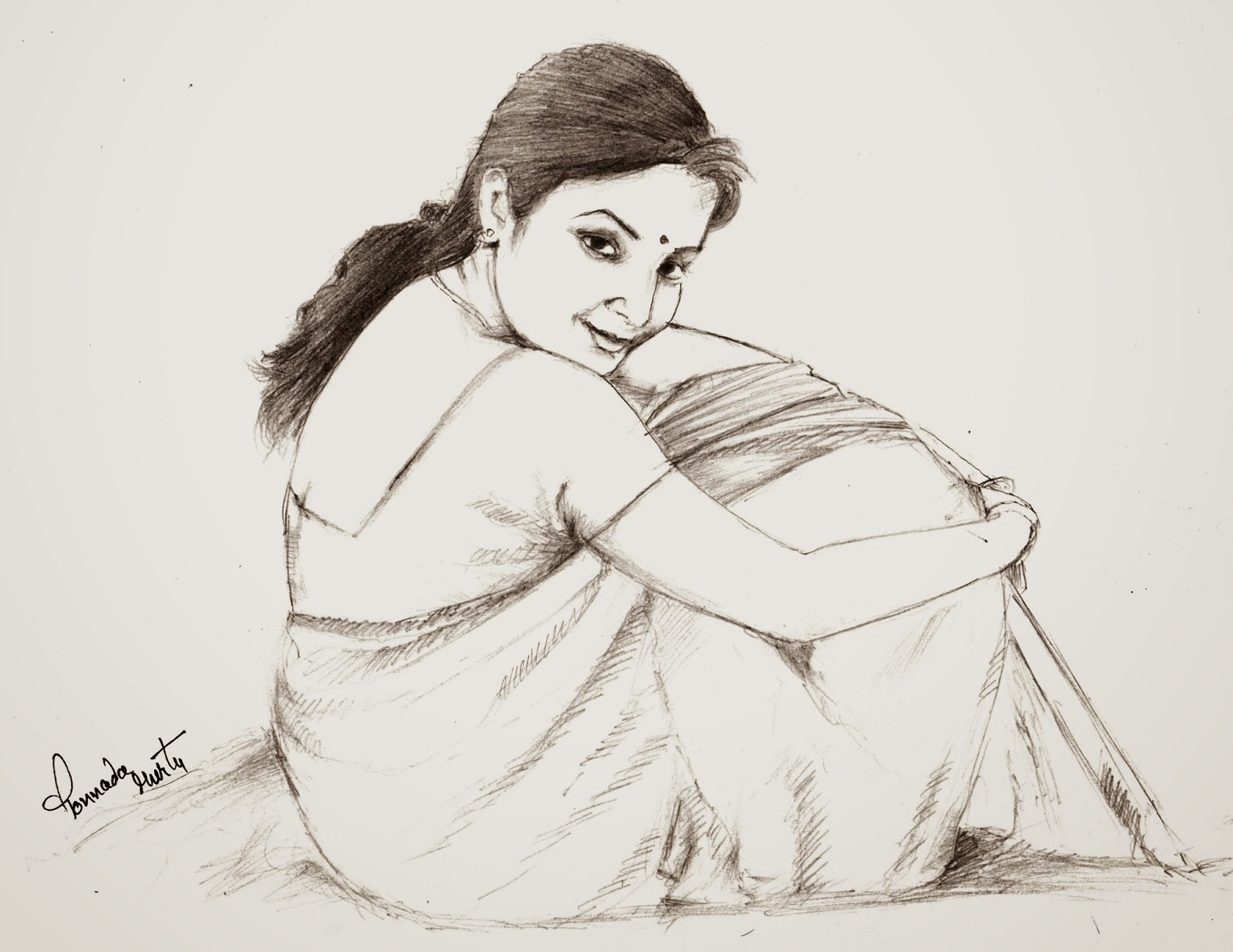 how to draw indian girl