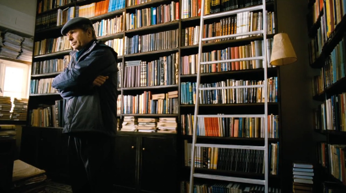 Eliezer in his library at home