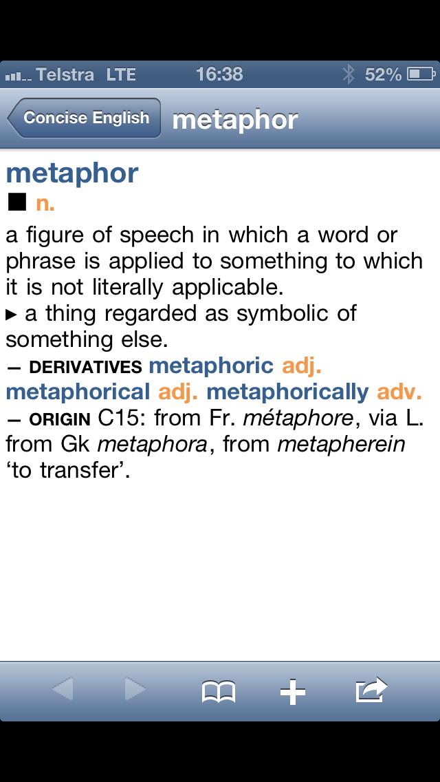 metaphor for quick
