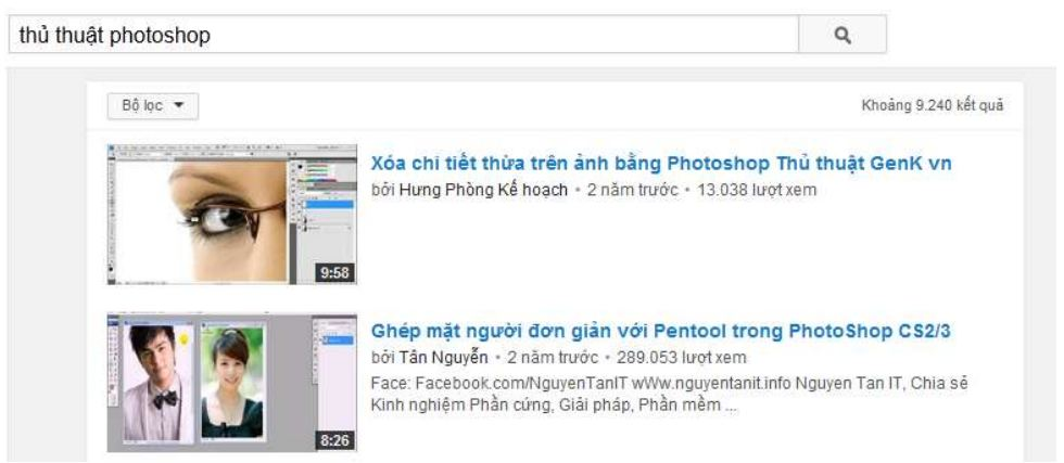 seo youtube - photoshop search