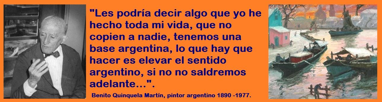 BENITO QUINQUELA MARTIN.