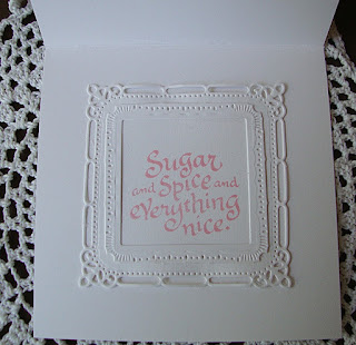 Serendipity Stamps Sugar and Spice Baby Girl card
