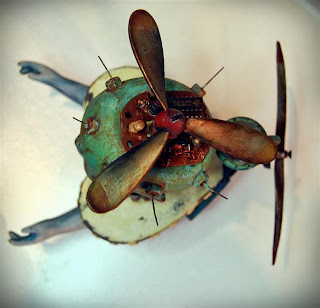 Andy skinner altered doll flying machine