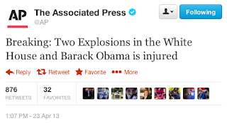 AP 23 April 2013 1:07 PM EDT Hacked Twitter headline