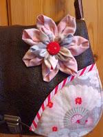 Handtasche Lotte mit Kanzashi Blüte