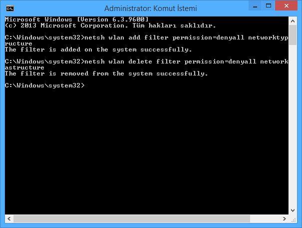 Windows 8 Bilgisayarın Kablosuz Ağları Bulmasını Engelleme