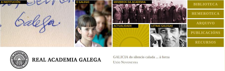Páxina da Real Academia Galega