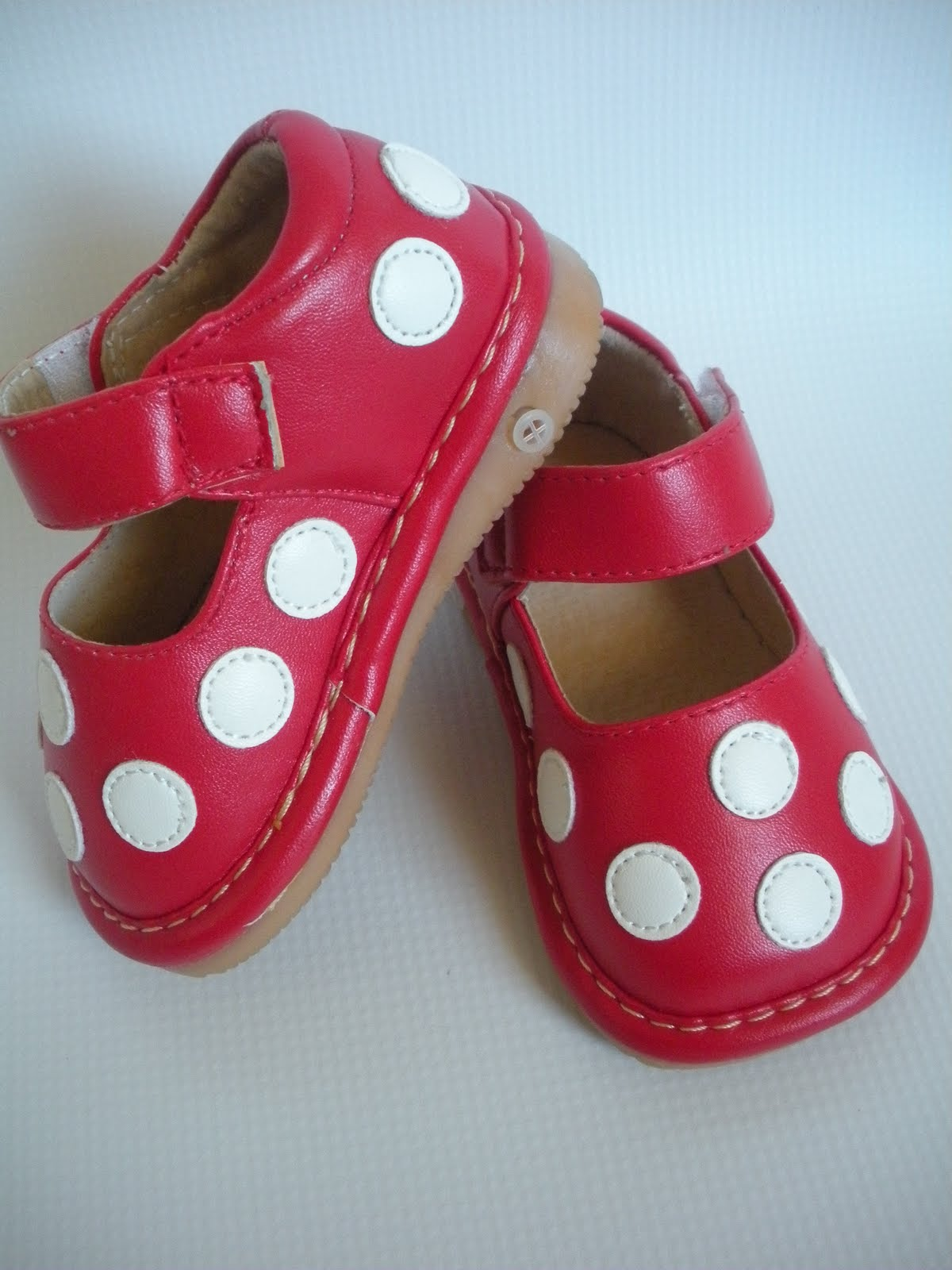 Red And White Polka Dot Squeaky Shoes