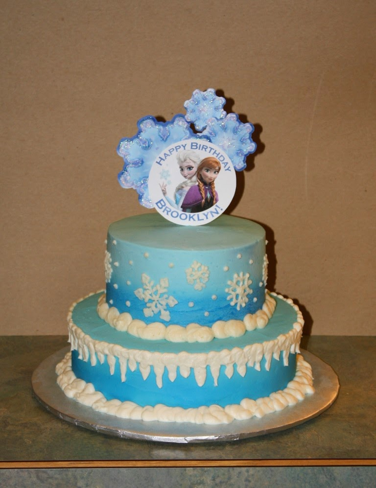 Party Cakes: Frozen 2-Tier Birthday Cake for Brooklyn