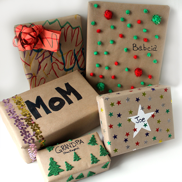 Five ways to wrap gifts with kids that still look great creative