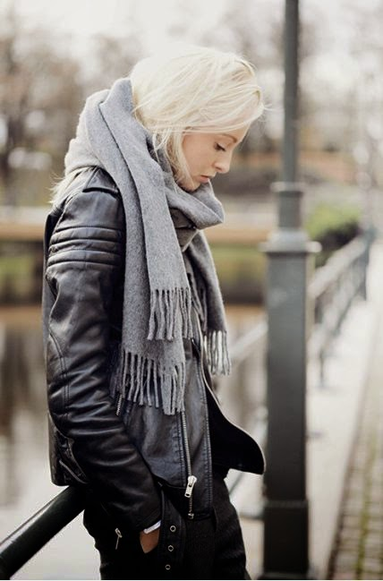 City. Urban. Style. Street. Layers. Winter. Warmth. Black & Grey. Leather Jacket. Trend . Modern. Slim. Fit. Black & White. Cute. Woman. Fashion. Clothing. Outfit. Bridge. Focus