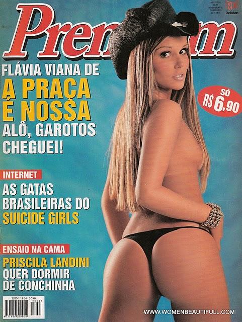 Confira as fotos da delicia da Praça é Nossa e do Big Brother Brasil 7, Flávia Viana, capa da Sexy Premium de agosto de 2005; Ensaio secundário Priscila Landini!