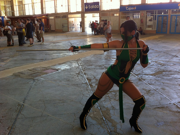Jade de  MK en la Comic Con Spain 2012