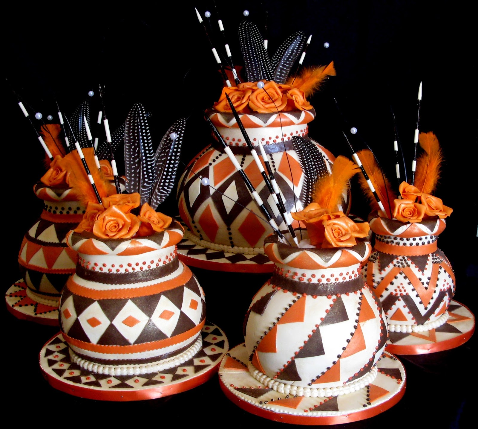 Sugarcraft By Soni Traditional Five African Pots