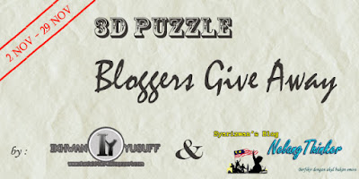 3D PUZZLE GIVEAWAY BY IY&SYARIZWAN