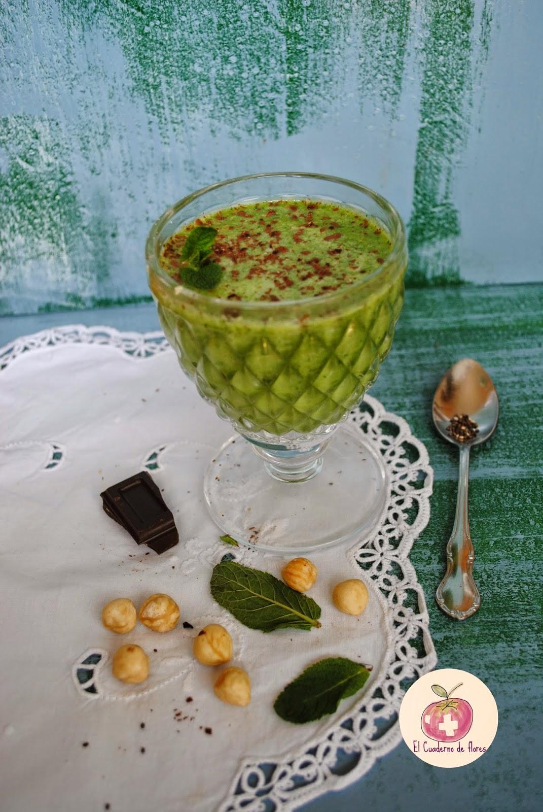 green smoothie, el cuaderno de flores