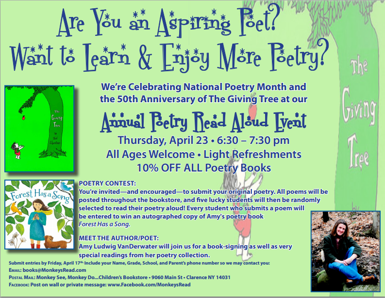 Poetry Month Event - Clarence, NY