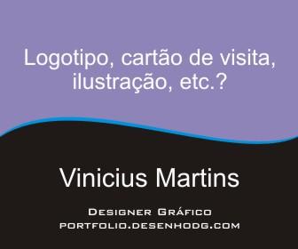 Vinicius Martins - Portfólio (logotipo, cartão de visita, etc.)