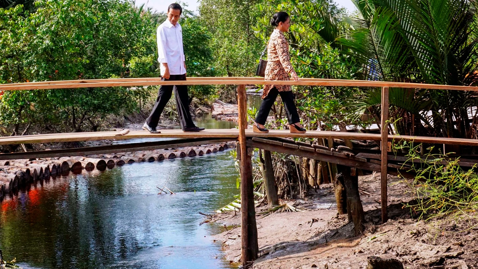 Jokowi Blusukan Asap di Riau