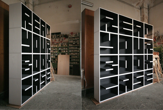 Abc bookcase letters and numbers modular cube storage for Letter shaped shelves