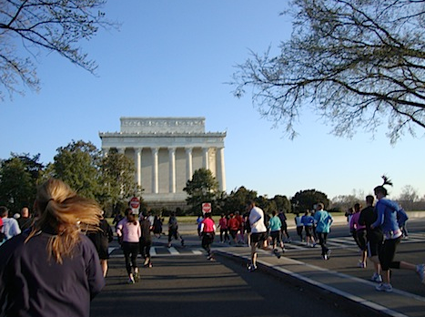Cherry blossoms 10 miler run