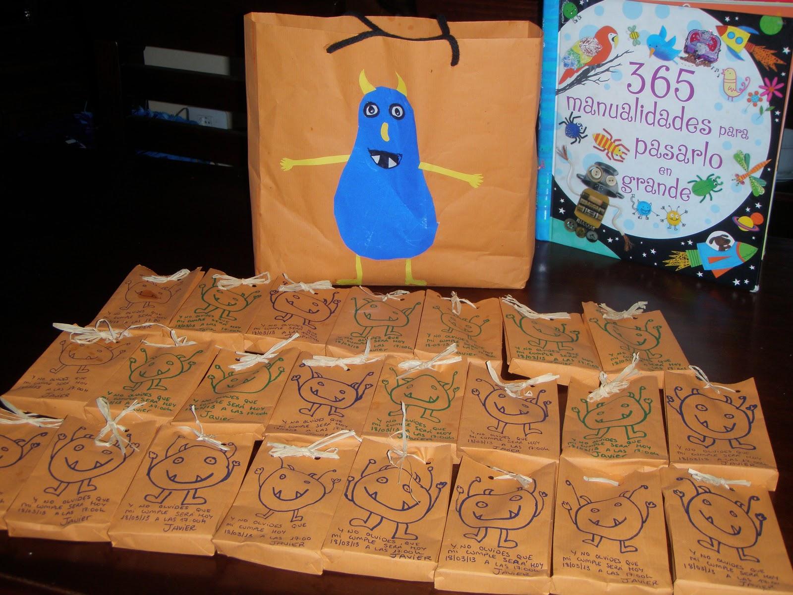 Cosas De Casa Azul Preparando El 6o Cumpleanos De Javier Bolsitas - Trabajos-manuales-para-casa