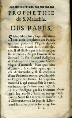 1672 PROFECÍAS SAN MALAQUIAS