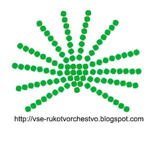 Китайская веерная пальма из бисера. Схема плетения