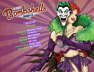 Page 2 from DC Comics Bombshells #6 featuring the Joker's Daughter