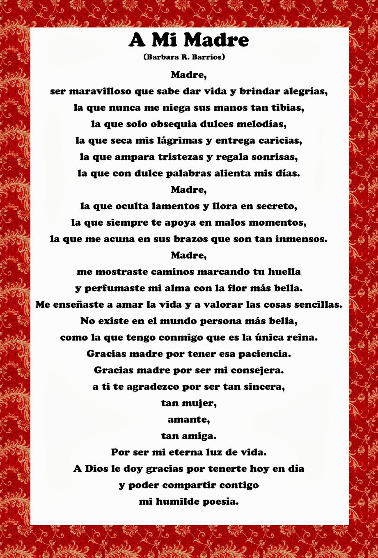 Gracias Madre Poemas Amor Y Tinta Poemas Para El Día De La Madre