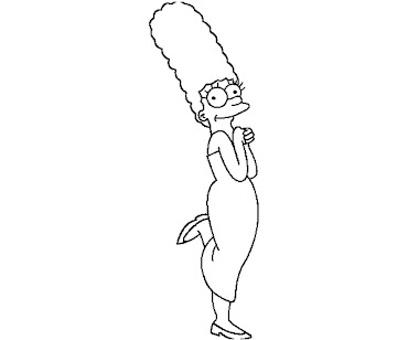 #10 The Simpsons Coloring Page