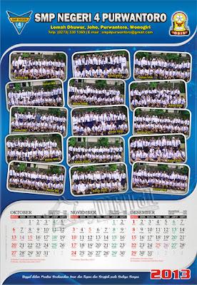Desain Kalender 2013 Desain Kalender, Desain Kalender 3 Bulanan, Kalender 2013, Kalender 3 Bulan, Kalender 4 Lembar, Desain Kalender 4 Lembar,  Desain kalender sekolah, kalender sekolah, kalender SMP Negeri 4 Purwantoro, desain kalender smp