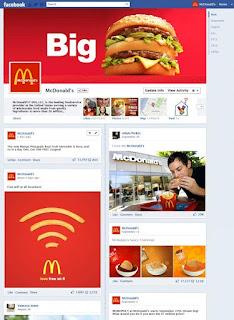 Timeline de la página de McDonald