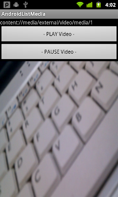 Play media on surfaceview using android.media.MediaPlayer