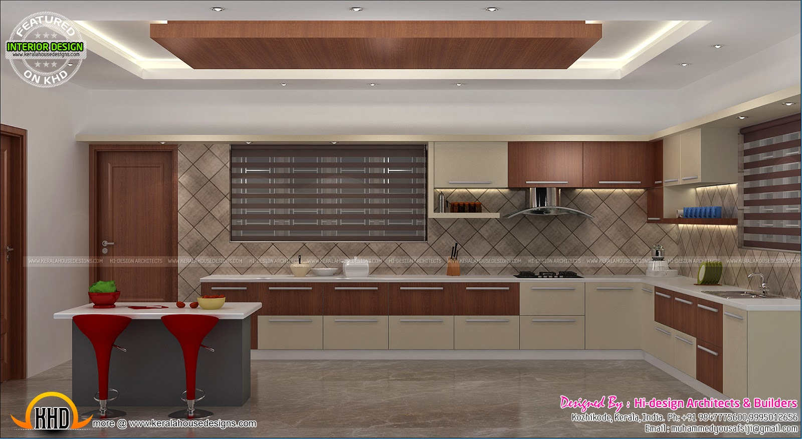 Interior Bed Room Living Dining Kitchen