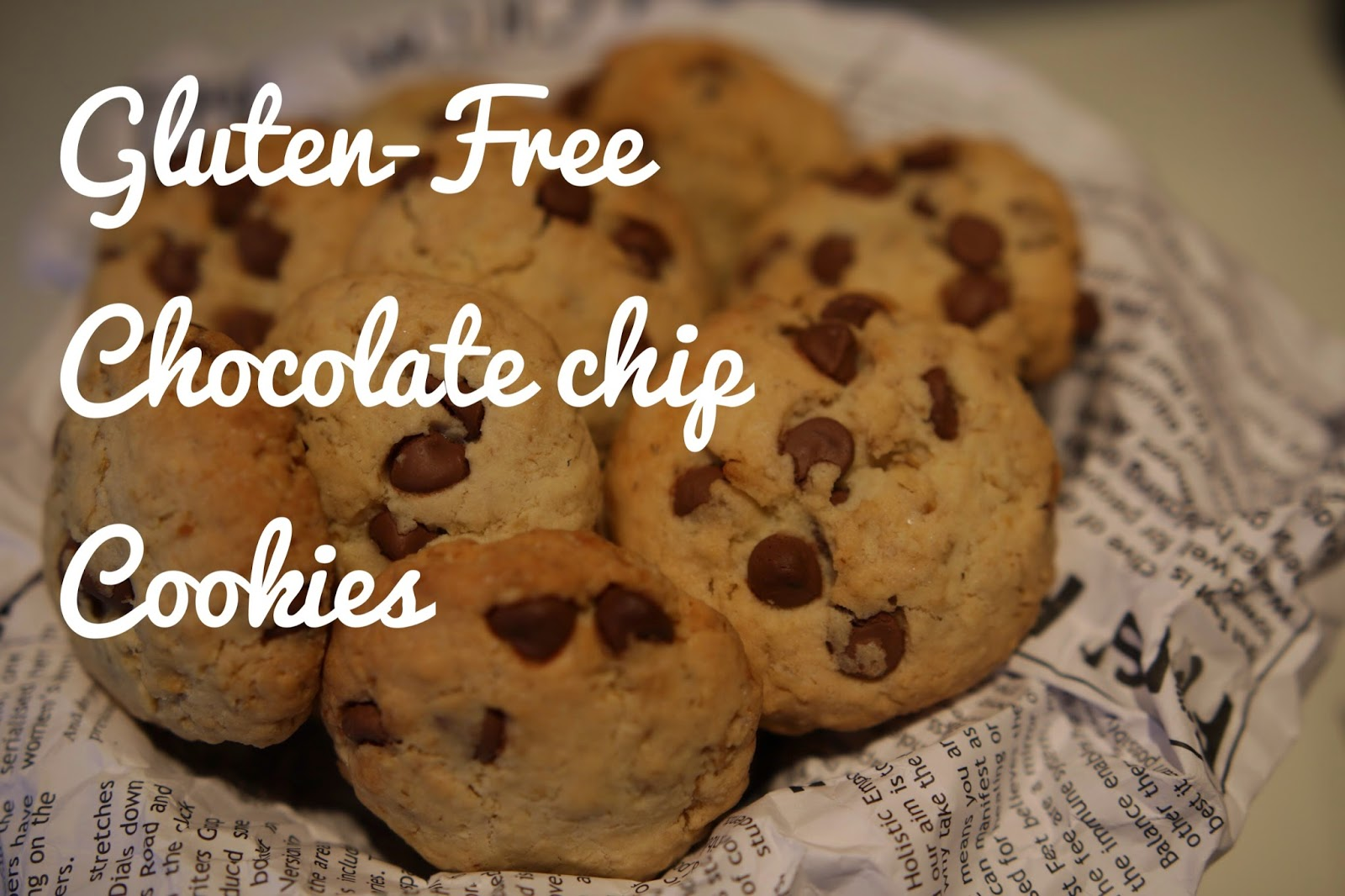 Gluten-free Rice flour Chocolate chip cookies