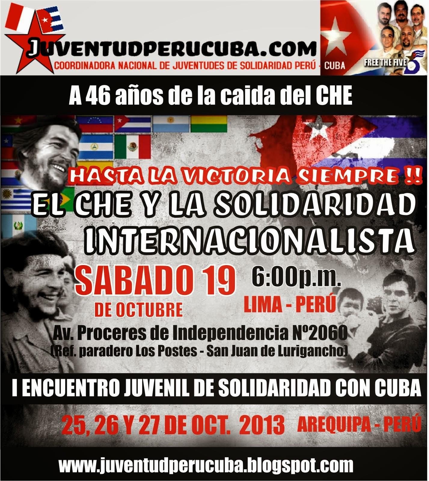 Jornada Nacional de Solidaridad con Cuba