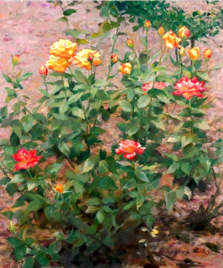 Im genes arte pinturas pinturas realistas de jardines y - Jardines y plantas ...