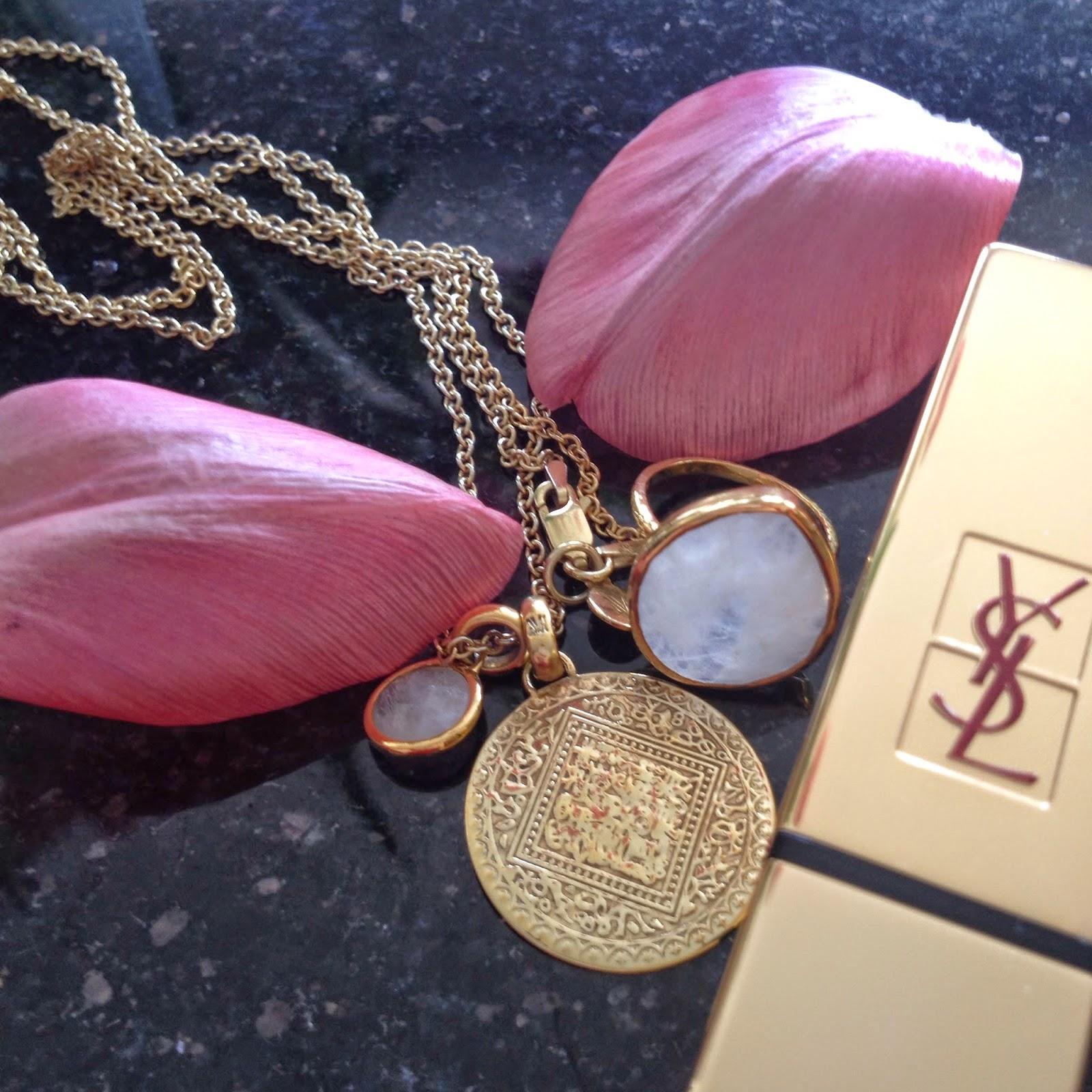 monica vinader pedant, monica vinader jewellery, monica vinader necklace, ysl lipstick, ysl makeup