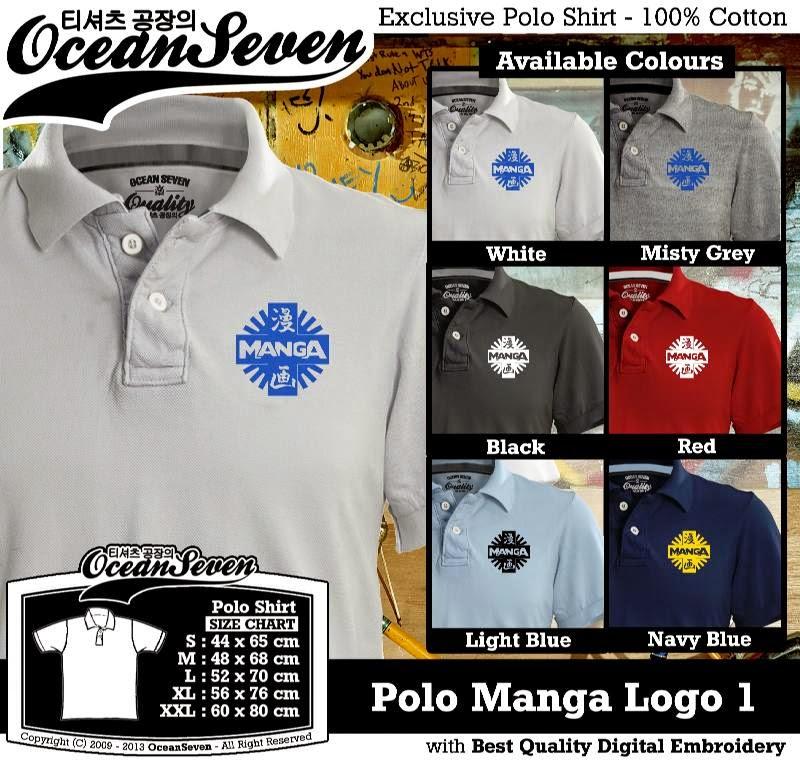 Kaos Polo Manga Logo 1